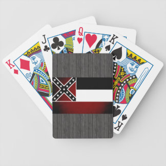 Monochrome Mississippi Flag Bicycle Playing Cards