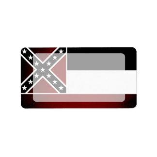 Monochrome Mississippi Flag Label