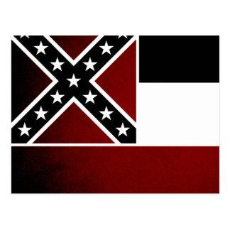 Monochrome Mississippi Flag Postcard