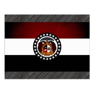 Monochrome Missouri Flag Postcard