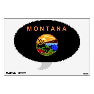Monochrome Montana Flag Wall Decals