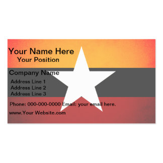 Monochrome Myanmar Flag Double-Sided Standard Business Cards (Pack Of 100)