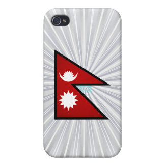 Monochrome Nepal Flag Case For iPhone 4