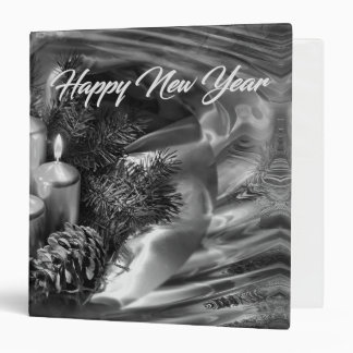 Monochrome New Year Binder with Water Ripples