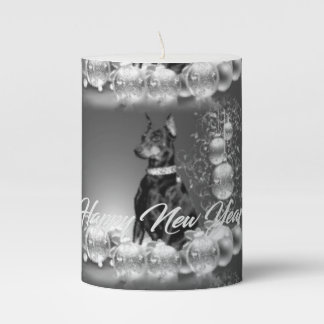Monochrome New Year Candles