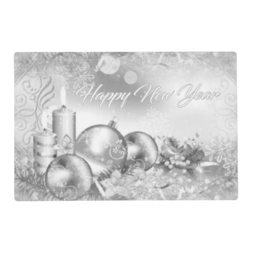 Monochrome New Year Placemat