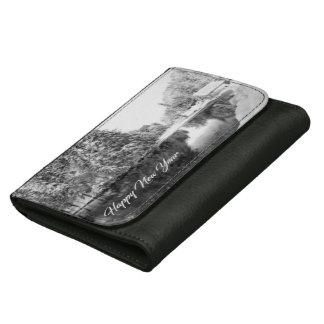 Monochrome New Year Theme Purse / Wallet