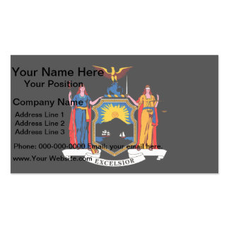 Monochrome New York Flag Double-Sided Standard Business Cards (Pack Of 100)