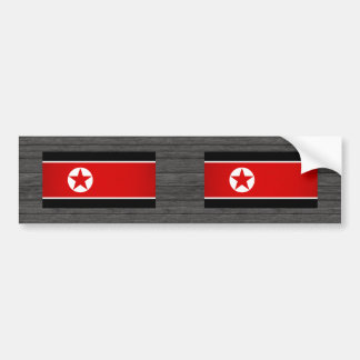 Monochrome North Korea Flag Bumper Stickers