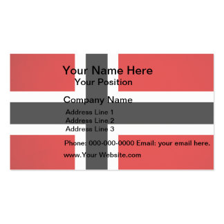 Monochrome Norway Flag Business Cards