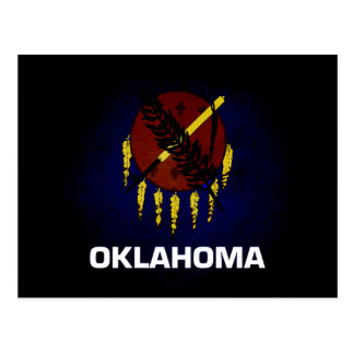 Monochrome Oklahoma Flag Postcard