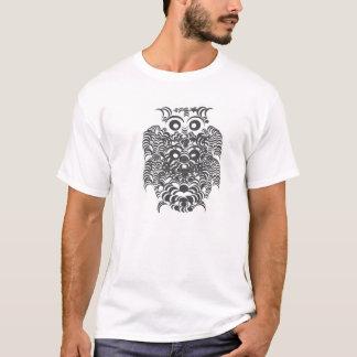 Monochrome owl tshirt design