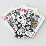 Monochrome Paisley Pattern Design. Card Decks