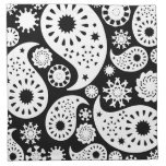 Monochrome Paisley Pattern Design. Cloth Napkin