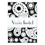 Monochrome Paisley Pattern Design. 5x7 Paper Invitation Card