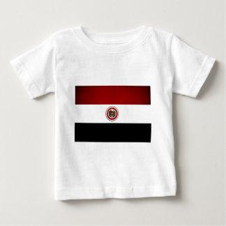 Monochrome Paraguay Flag Baby T-Shirt