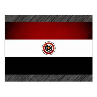Monochrome Paraguay Flag Postcard