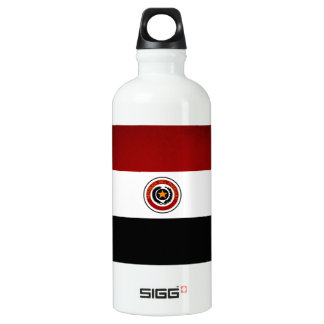 Monochrome Paraguay Flag Water Bottle