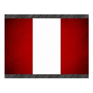 Monochrome Peru Flag Postcard