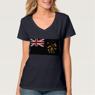 Monochrome Pitcairn Islands Flag T Shirt