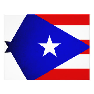 Monochrome Puerto Rico Flag Personalized Flyer