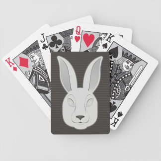 Monochrome Rabbit Face Bicycle Playing Cards