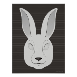 Monochrome Rabbit Poster
