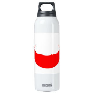 Monochrome Rapa Nui Flag 16 Oz Insulated SIGG Thermos Water Bottle