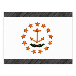 Monochrome Rhode Island Flag Postcard