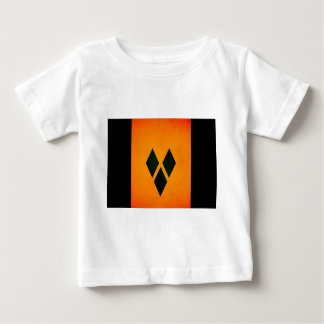 Monochrome Saint Vincent and the Grenadines Flag Baby T-Shirt
