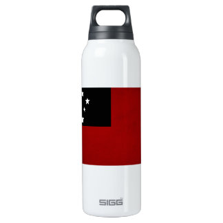 Monochrome Samoa Flag 16 Oz Insulated SIGG Thermos Water Bottle