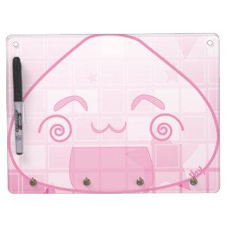 Monochrome Shyness! Dry Erase Board With Keychain Holder