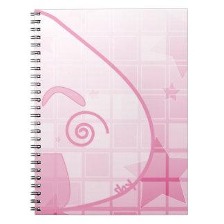 Monochrome Shyness! Spiral Notebook