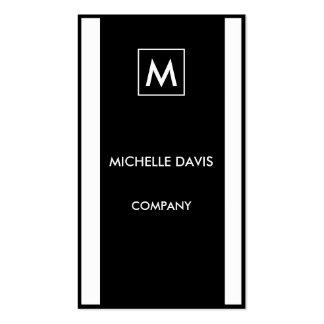 Monochrome simple 2-tone business card