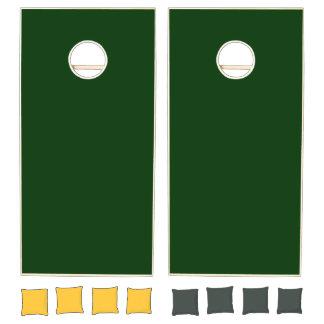 Monochrome, Solid DARK GREEN Cornhole Set