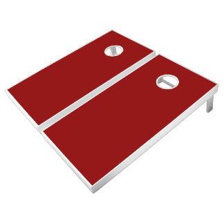 Monochrome, Solid DARK RED Cornhole Set