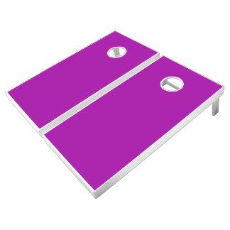 Monochrome, Solid HOT PURPLE Cornhole Set