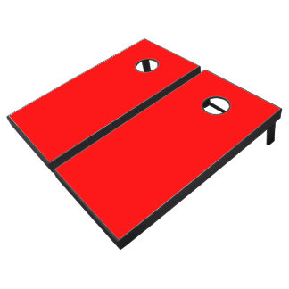 Monochrome, Solid HOT RED Cornhole Set