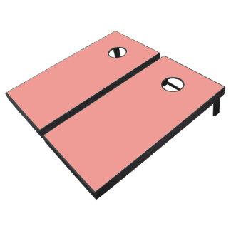 Monochrome, Solid PEACH Cornhole Set