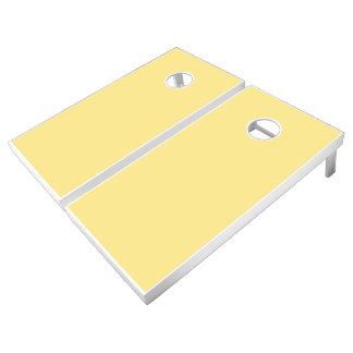 Monochrome, Solid YELLOW Cornhole Set