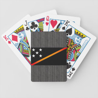 Monochrome Solomon Islands Flag Bicycle Playing Cards