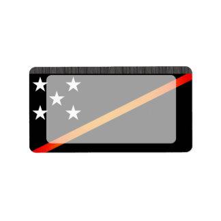 Monochrome Solomon Islands Flag Label