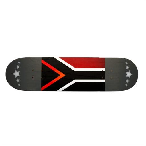 Monochrome South Africa Flag Skateboard Deck