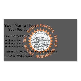 Monochrome South Dakota Flag Double-Sided Standard Business Cards (Pack Of 100)