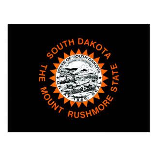 Monochrome South Dakota Flag Postcard