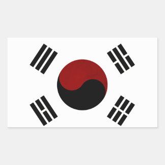Monochrome South Korea Flag Sticker