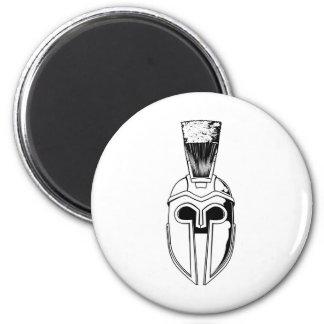 Monochrome Spartan helmet illustration Magnets