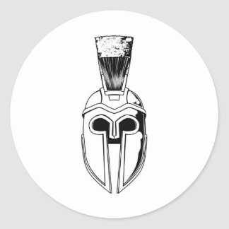 Monochrome Spartan helmet illustration Stickers