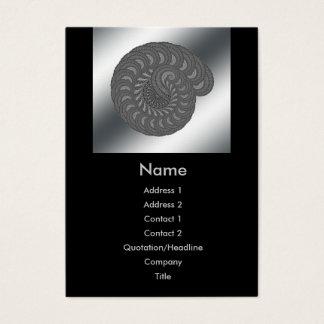 Monochrome Spiral Graphic. Business Card