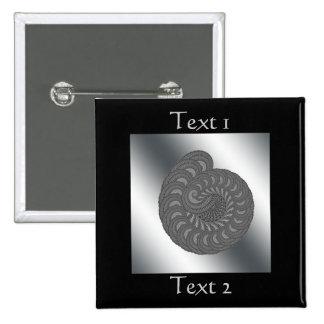 Monochrome Spiral Graphic. Pins